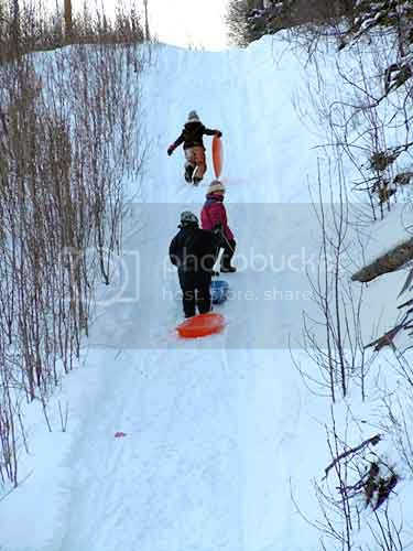 Sledding with Friends