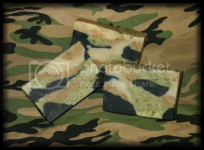 soap,homemade soap,camouflage soap,herbal soap,comfrey,activated charcoal,charcoal soap