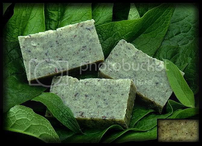 soap,homemade soap,comfrey,wild geranium,herbal soap,fiddlehead