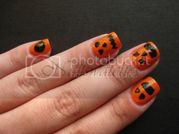 jack o lantern halloween pumpkin nails orange nail polish nailswatches