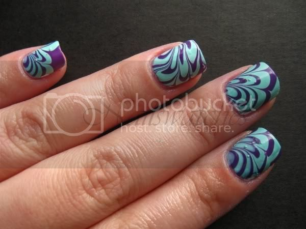 watermarble green and purple creme nail polish frankenstein opi funky dunkey orly gumdrop nailart nailswatches
